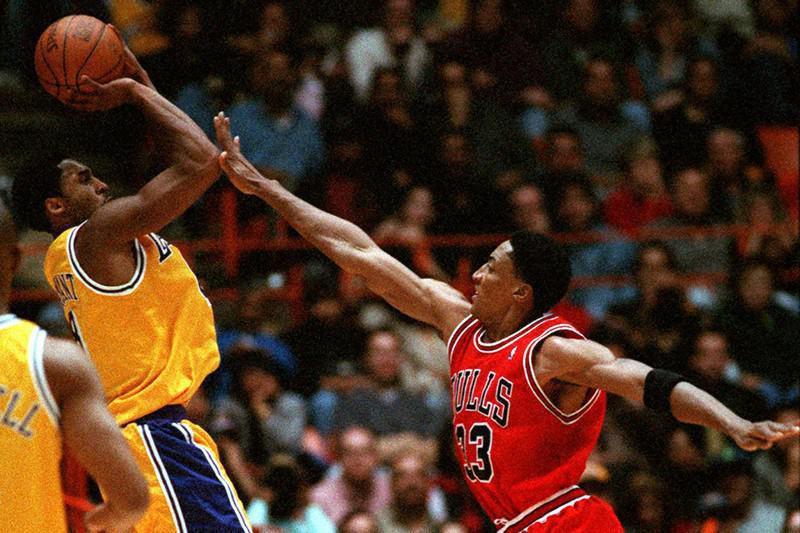 Scottie Pippen and Kobe Bryant