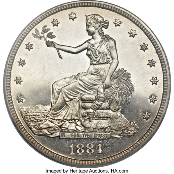 1884 Silver Trade Dollar