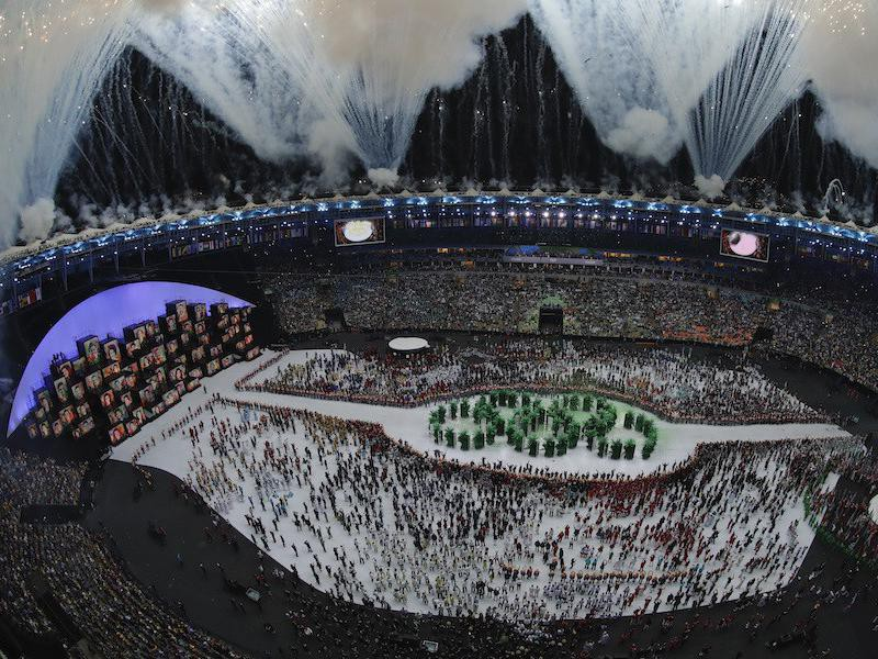 Opening ceremony at the 2016 Olympic Games in Rio de Janeiro