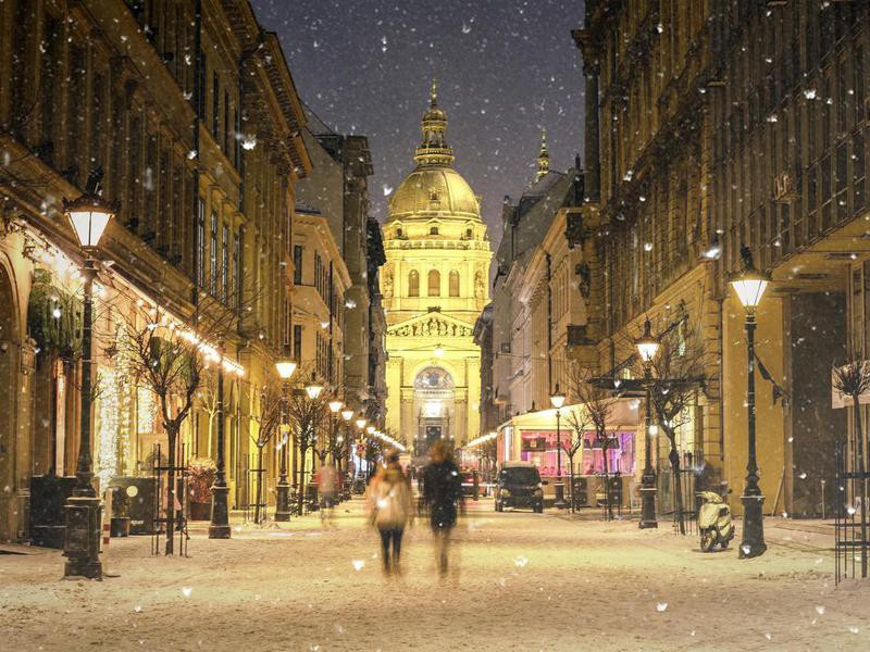 Zrinyi Street in Budapest