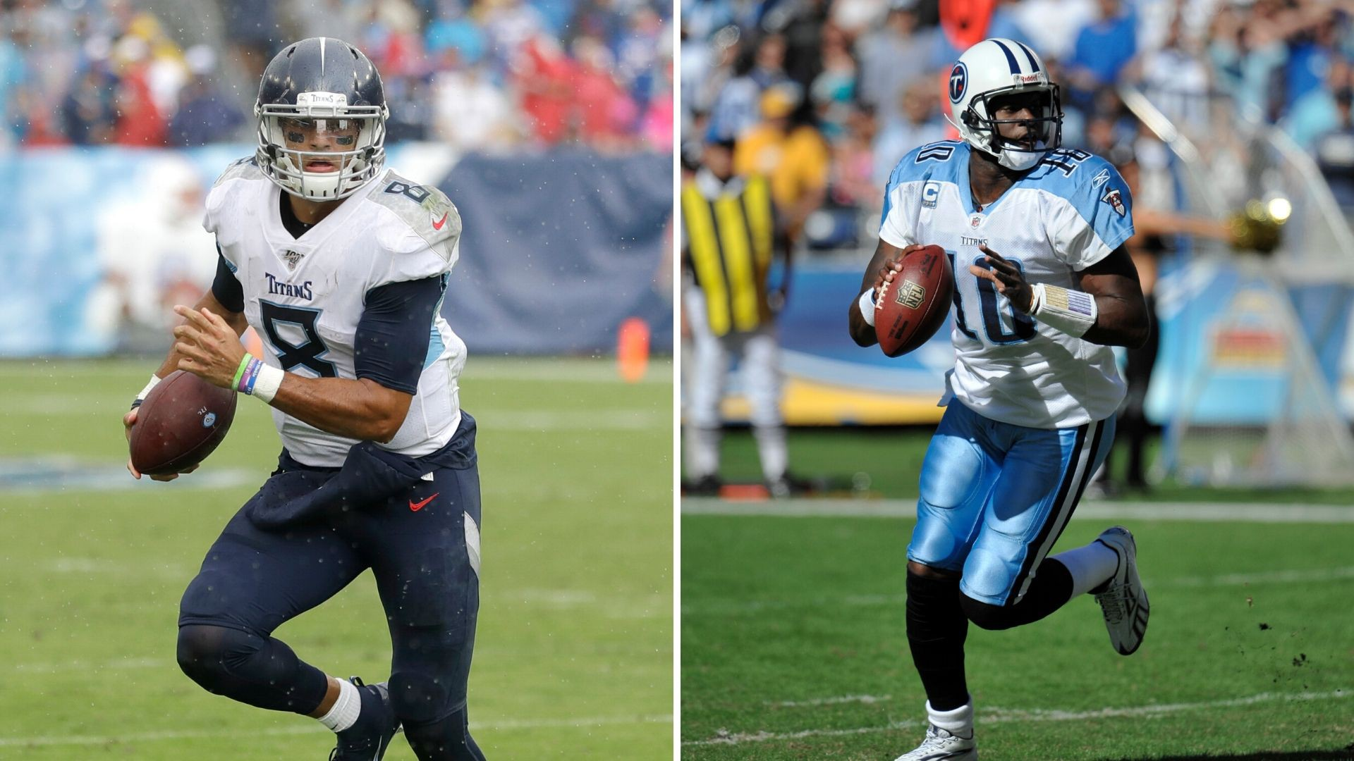 Marcus Mariota and Vince Young