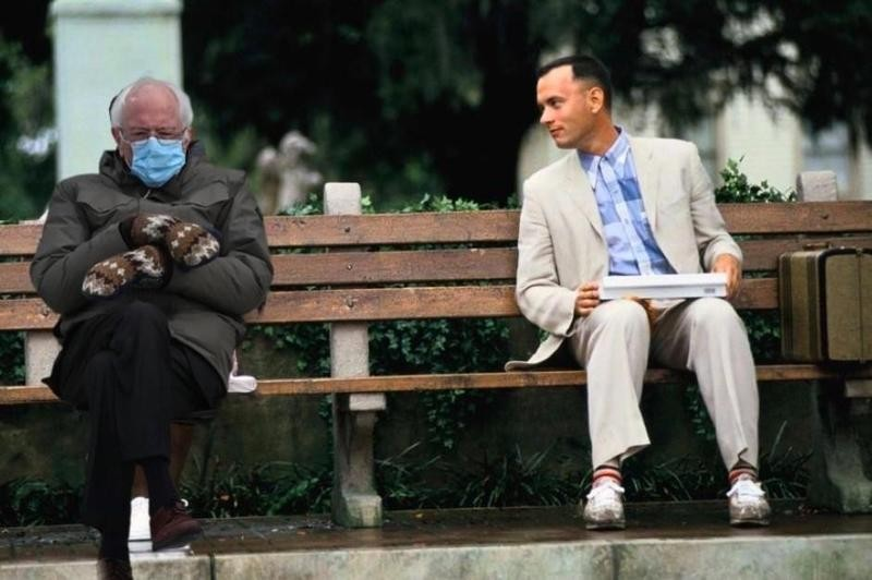 Bernie Sanders with Forrest Gump