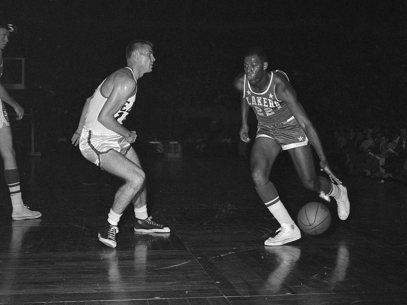 Minneapolis Lakers forward Elgin Baylor