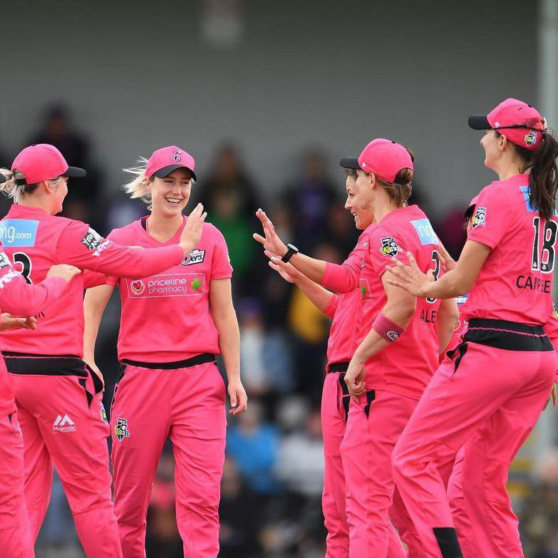 Ellyse Perry with teammates