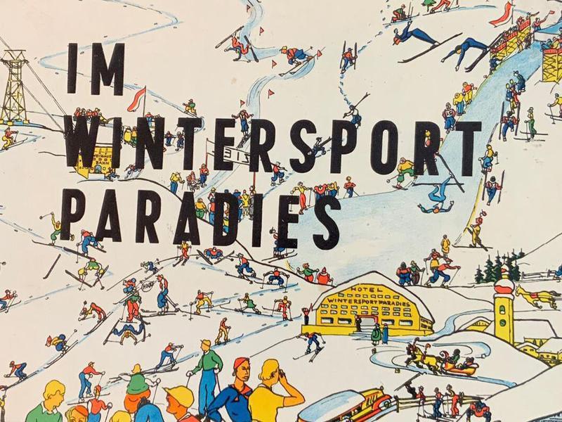 Im Wintersportparadies Vintage Board Game cover