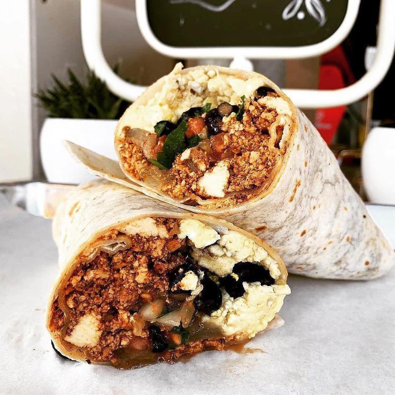 OG breakfast burrito at The Grove by Lemon Tree Co.