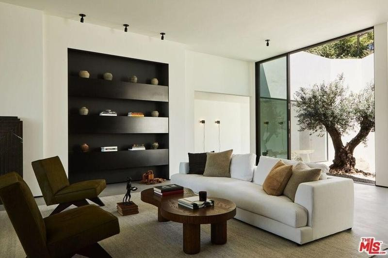 Living room with tree