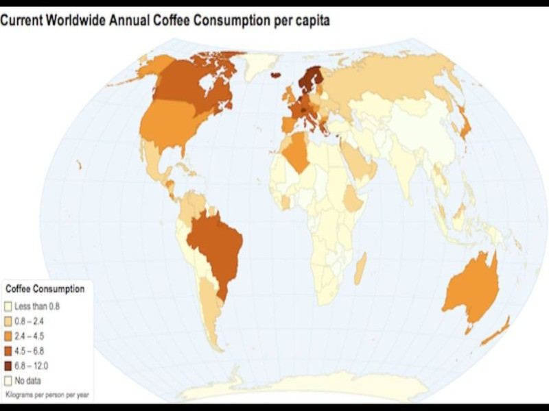 A map of global coffee consumption