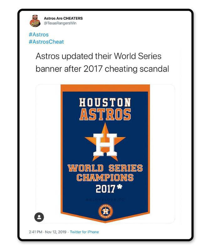 New Astros World Series banner