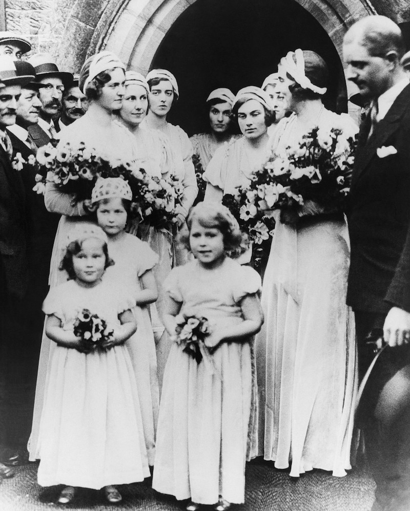 Princess Elizabeth at wedding