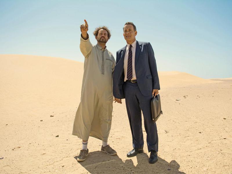 Tom Hanks and Omar Elba