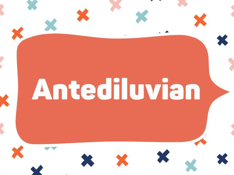 1994: Antediluvian