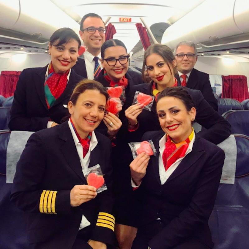 Air Malta flight attendants