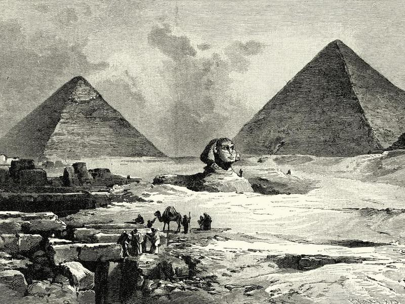 Pyramids and Great Sphinx of Giza, 19th Century
