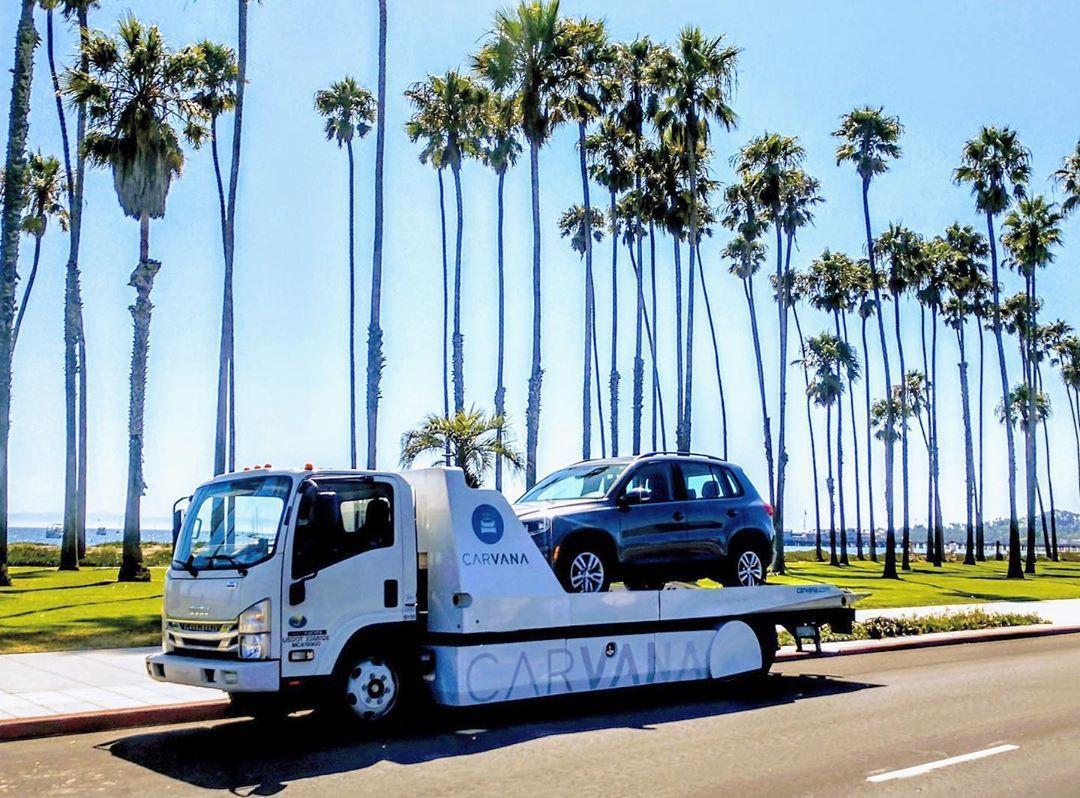 Carvana delivery truck in California