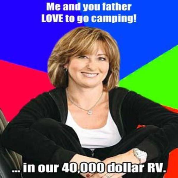 RV camping meme