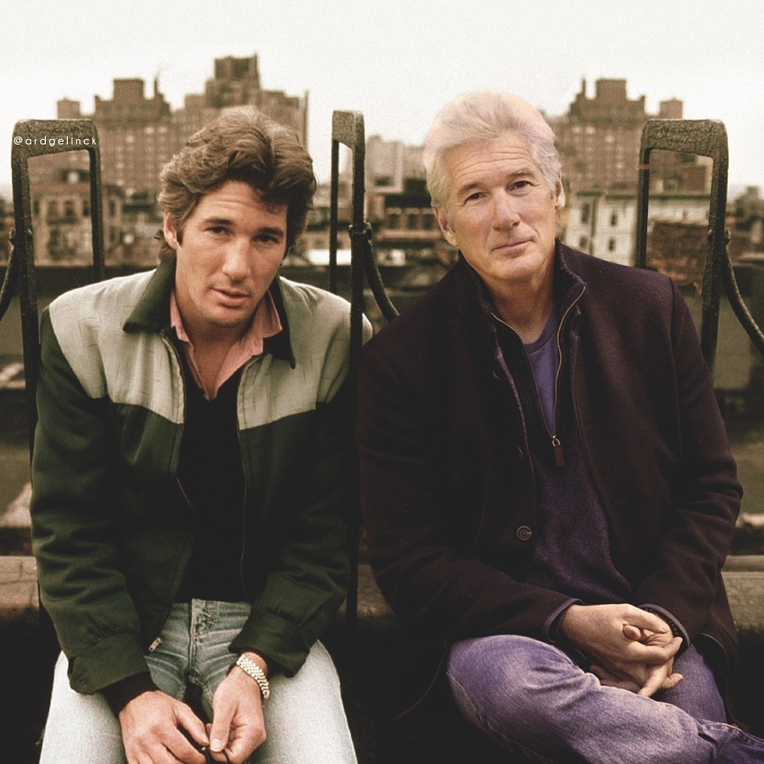 Richard Gere young and old