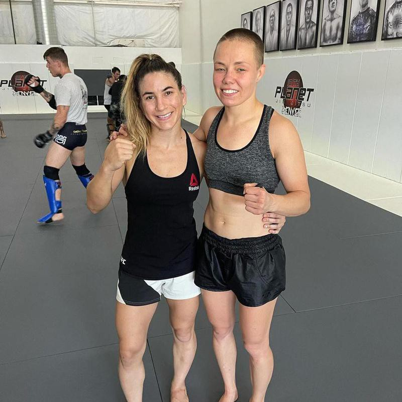 Rose Namajunas with training buddy