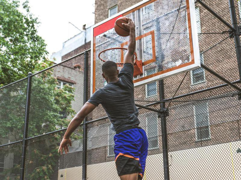 Man playing at West 4th Street Courts in New York Times