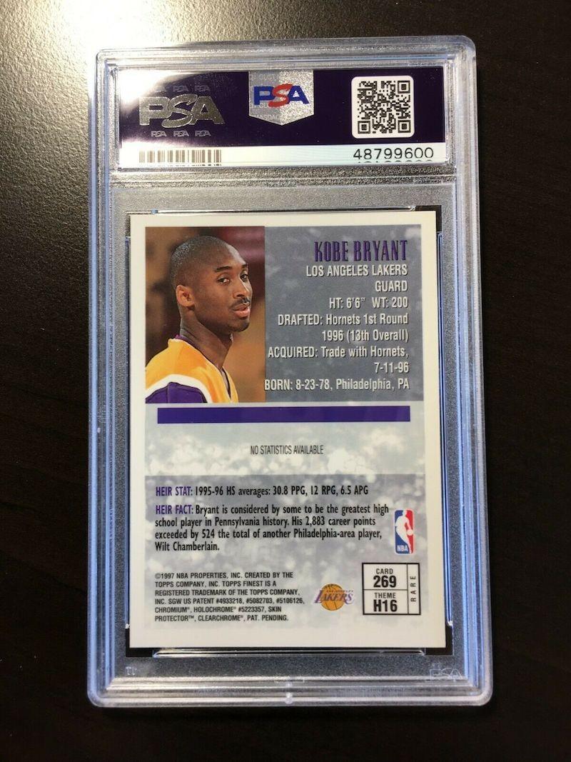 Kobe Bryant Topps Finest Heirs Gold 269