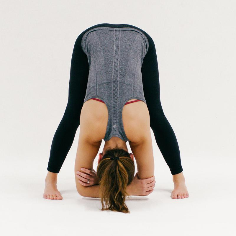 Wide Legged Forward FoldHorse Pose - 10 Minutes of Yoga to Jumpstart Your Work Day  IMAGES, GIF, ANIMATED GIF, WALLPAPER, STICKER FOR WHATSAPP & FACEBOOK