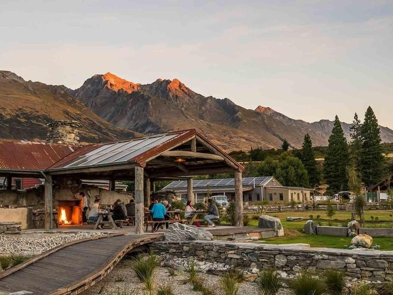 Eco camp in New Zealand