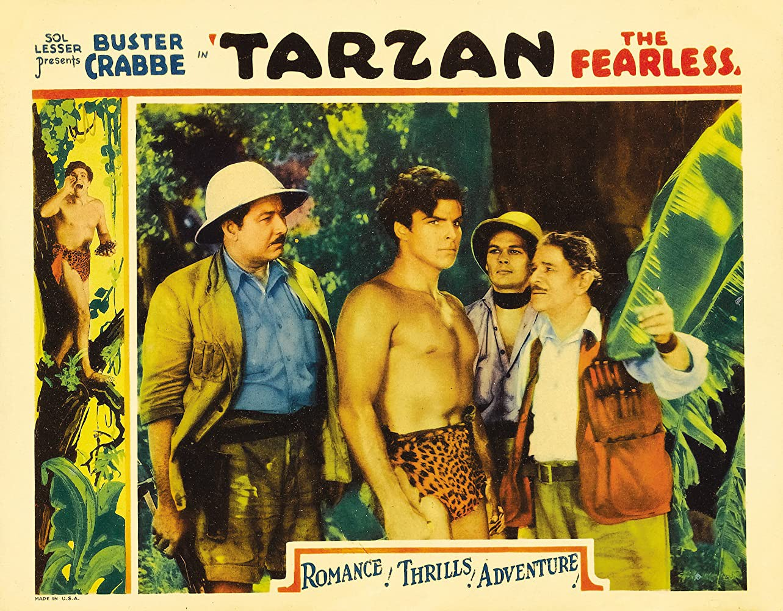 "An advert for ""Tarzan the Fearless"""