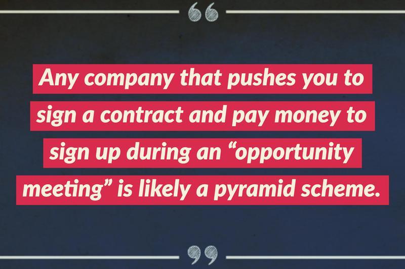 pyramid scheme scam