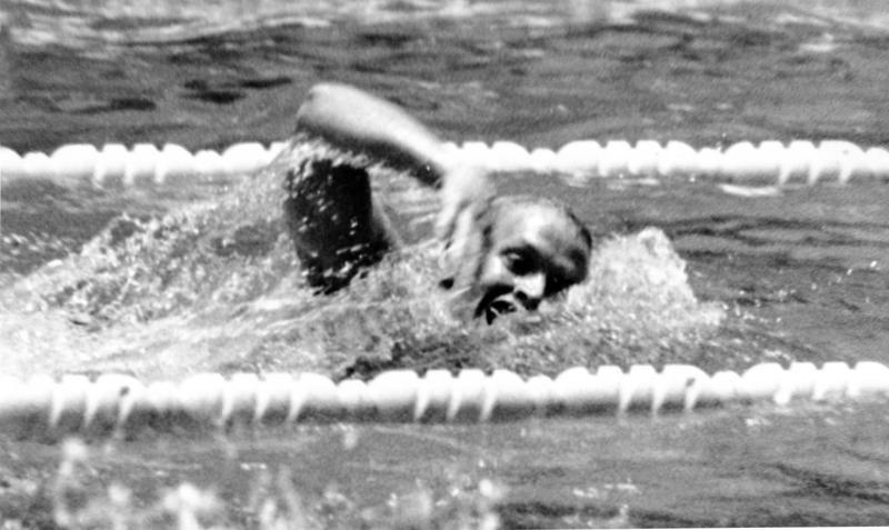 Don Schollander swimming in Tokyo