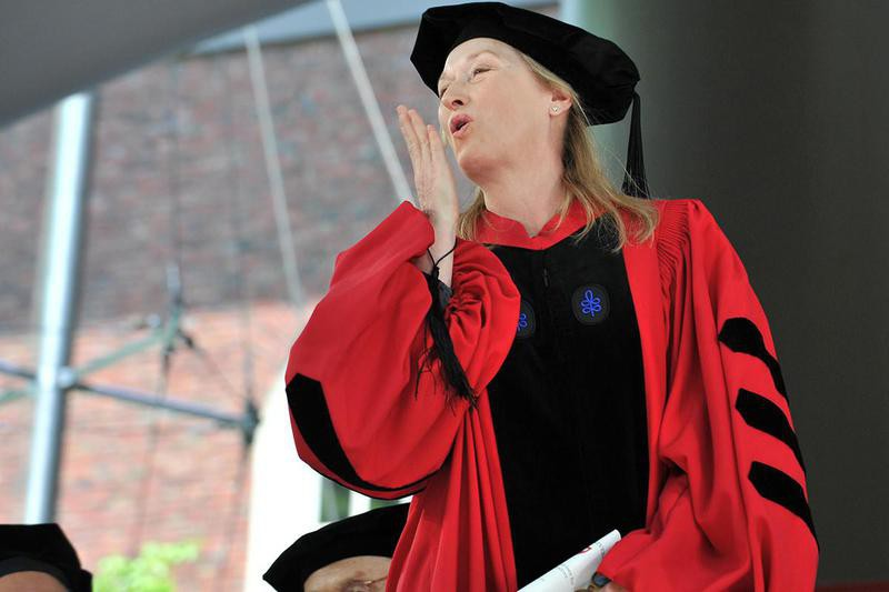 Meryl Streep Harvard commencement