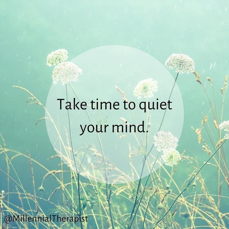 Quiet your minds