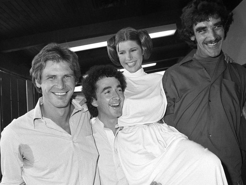 Harrison Ford, Anthony Daniels, Carrie Fisher and Peter Mayhew