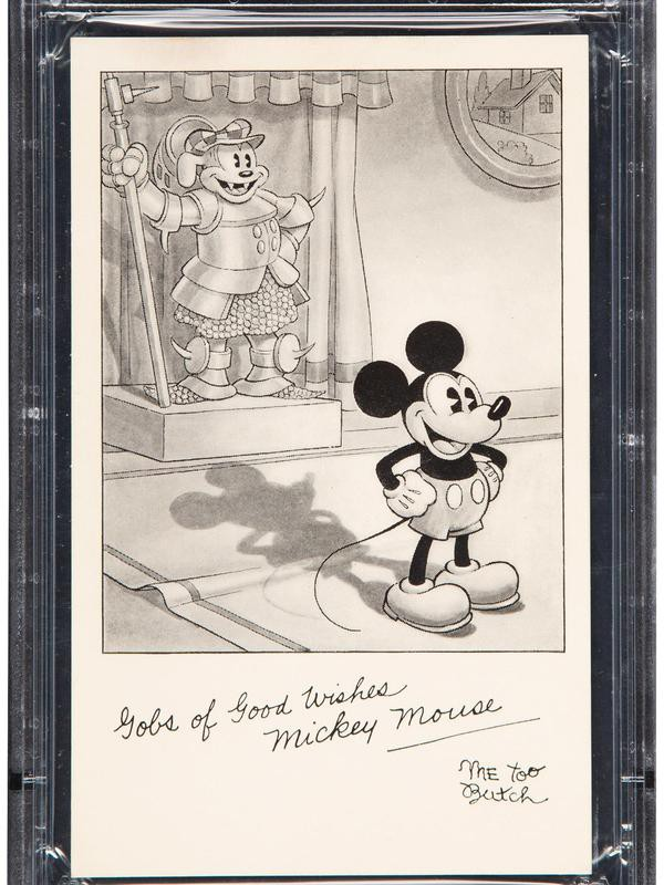 1931 Mickey Mouse Premium Card