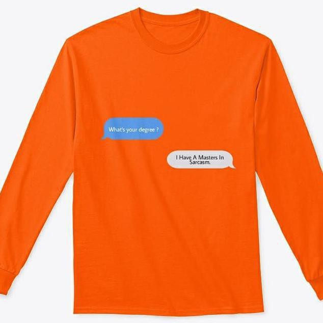 Funny Shirts About Sarcasm