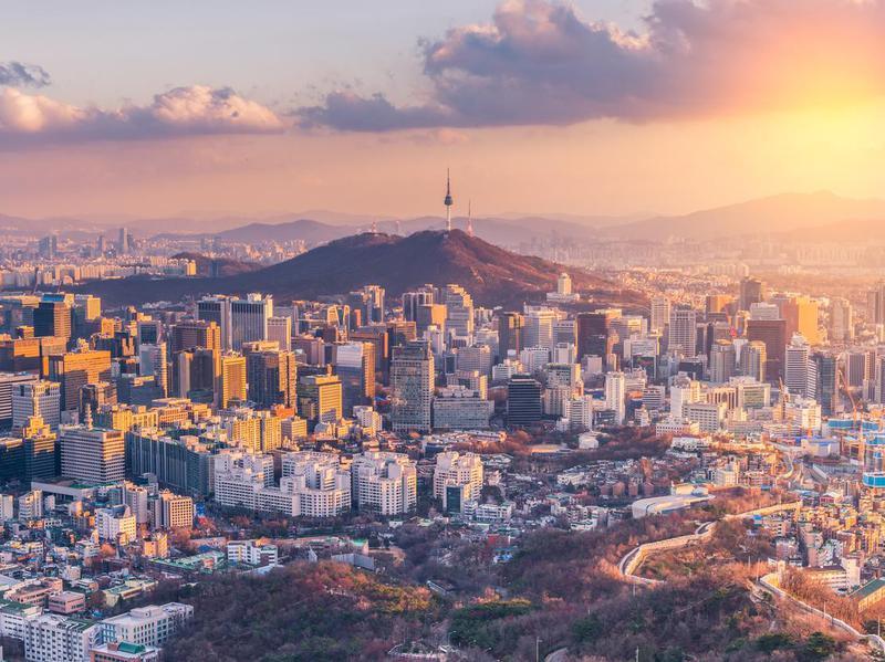 Sunset at Seoul City South Korea