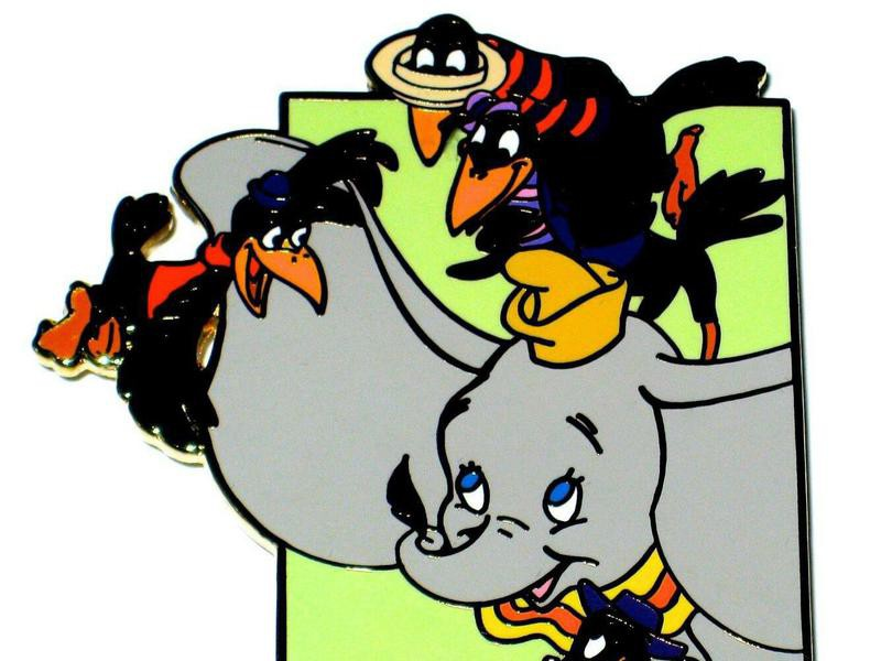 Dumbo with Crows Disney Pins