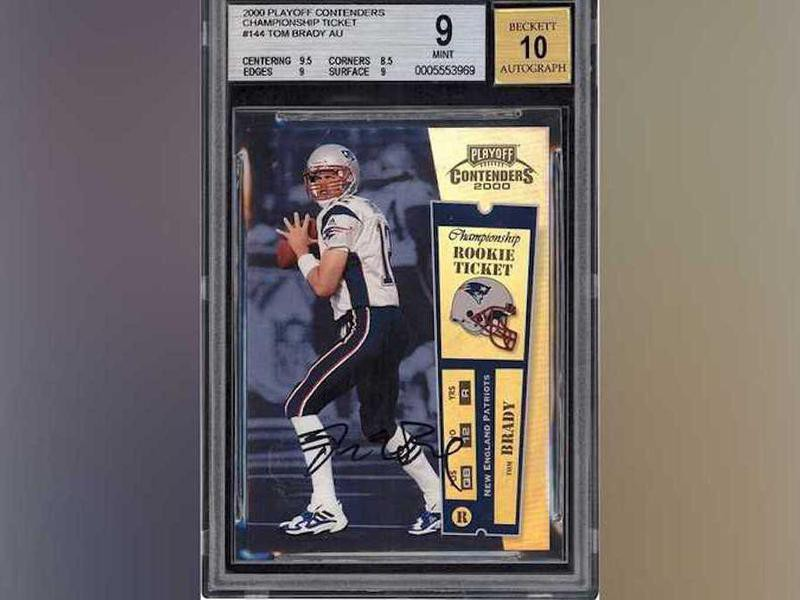 Tom Brady 2000 Playoff Contenders Championship Rookie Ticket Autograph card