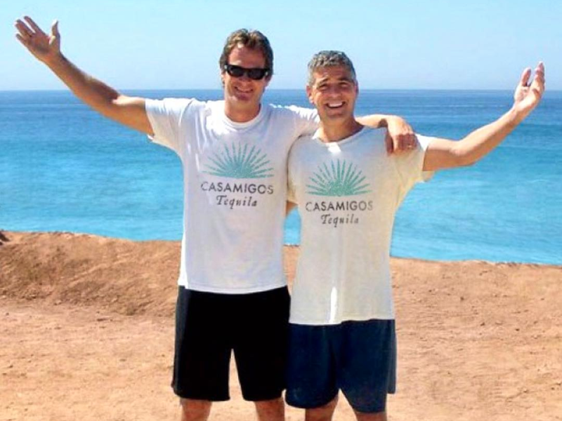 George Clooney and Rande Gerber in Mexico