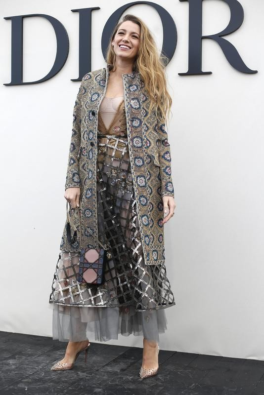Blake Lively at Christian Dior's collection in Paris