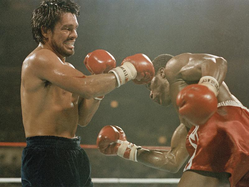 Roberto Duran and Davey Moore