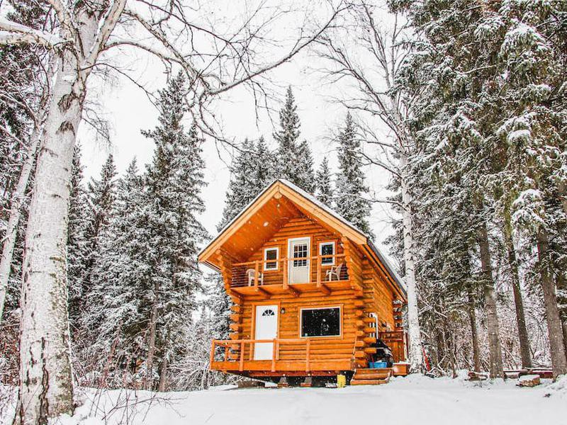 Cozy Alaskan Log Cabin