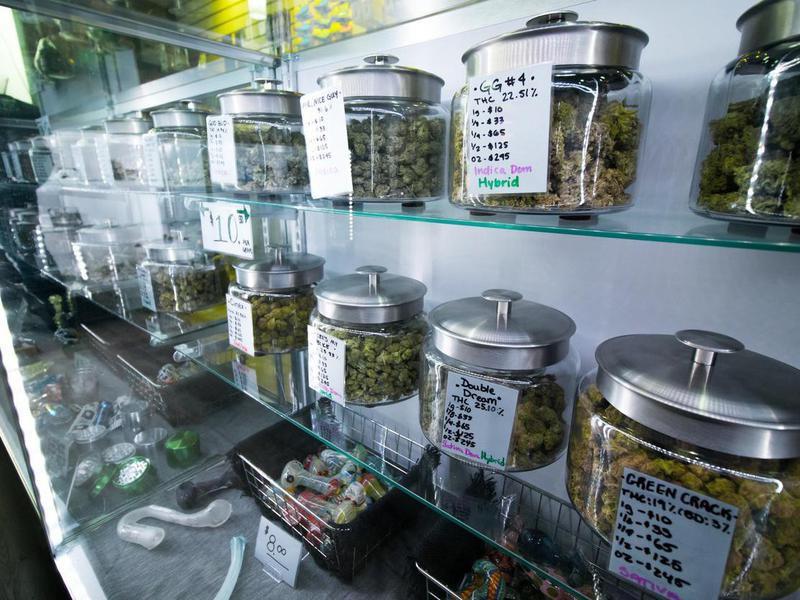 Marijuana at a retail store