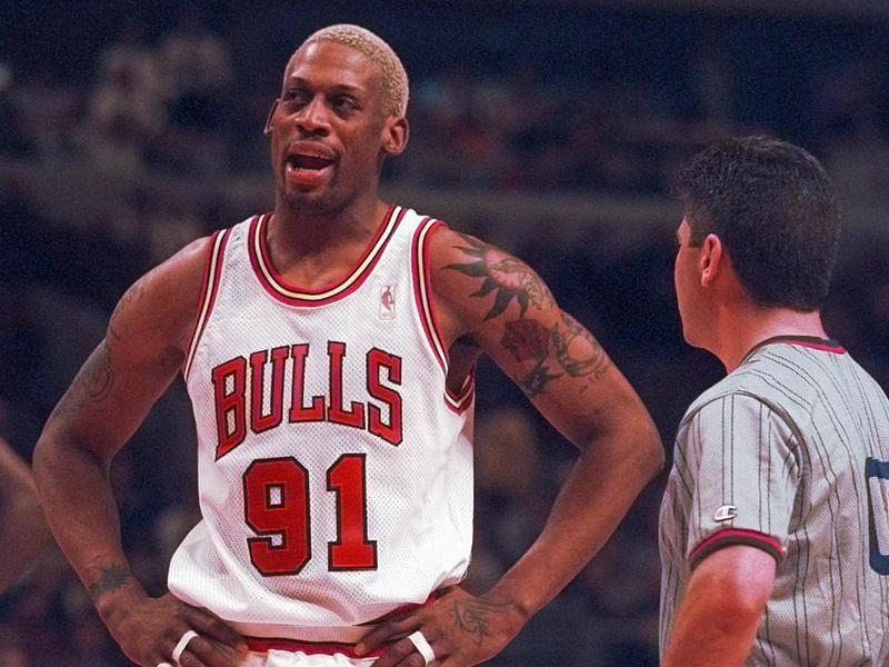 Chicago Bulls forward Dennis Rodman