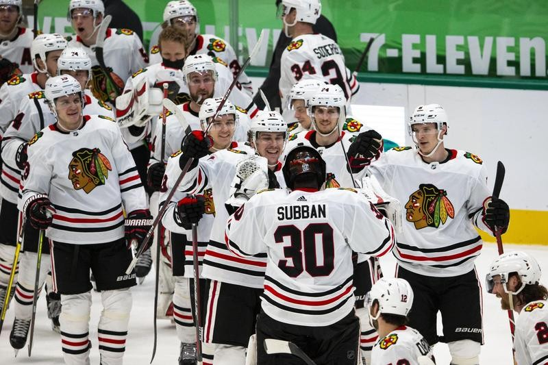 Chicago Blackhawks celebrate