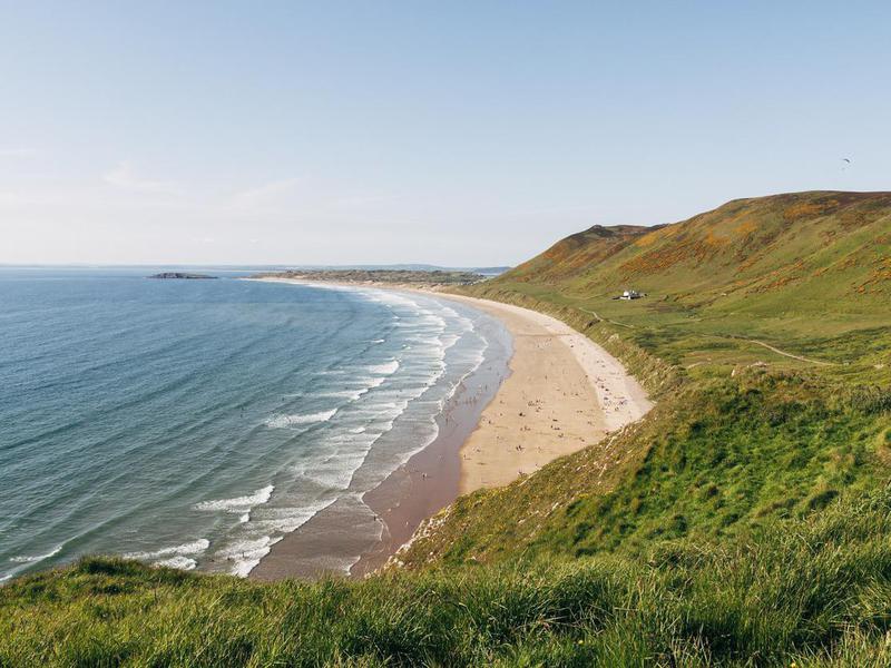 Rhossili Bay in South Wales, U.K.