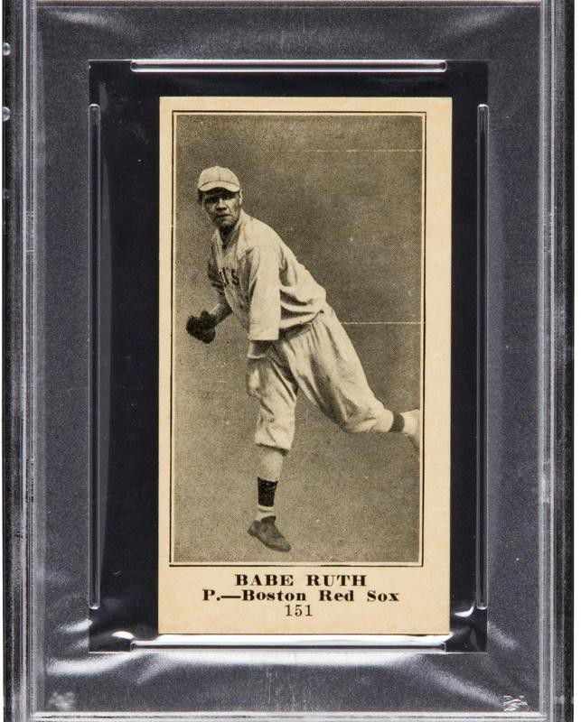 Babe Ruth 1916 M101-5 Sporting News card