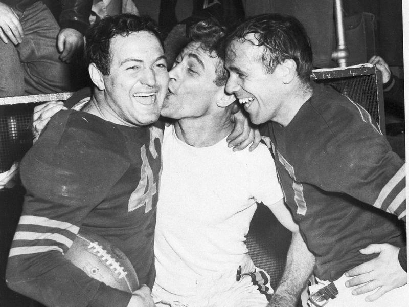 Sid Luckman, George McAfee, Ray McLean