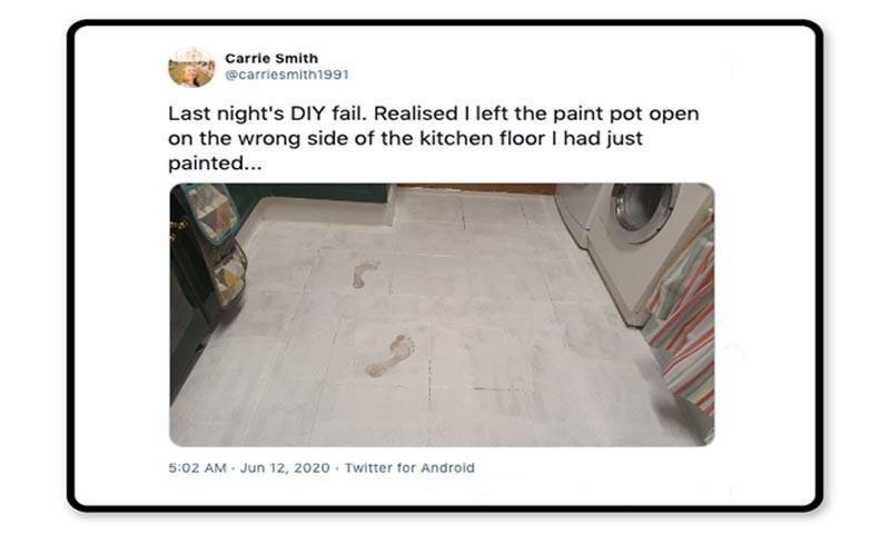 Paint footprints