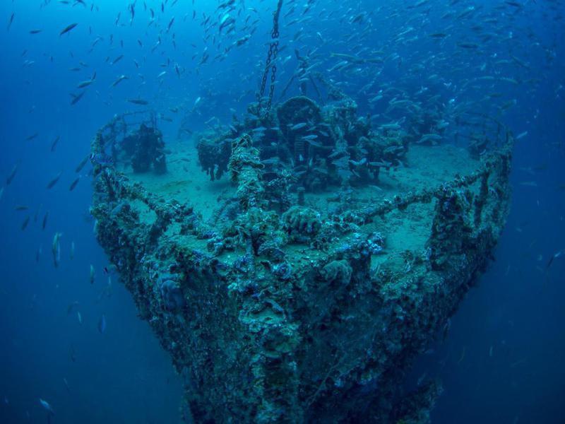 Shipwreck in Adriatic Sea