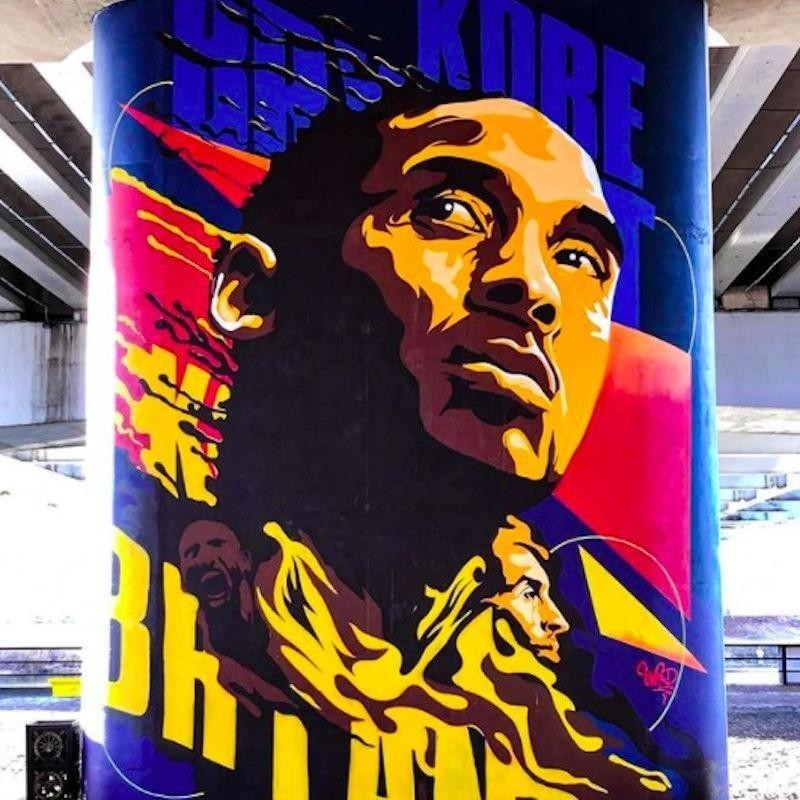 Kobe Bryant mural in Kazakhstan